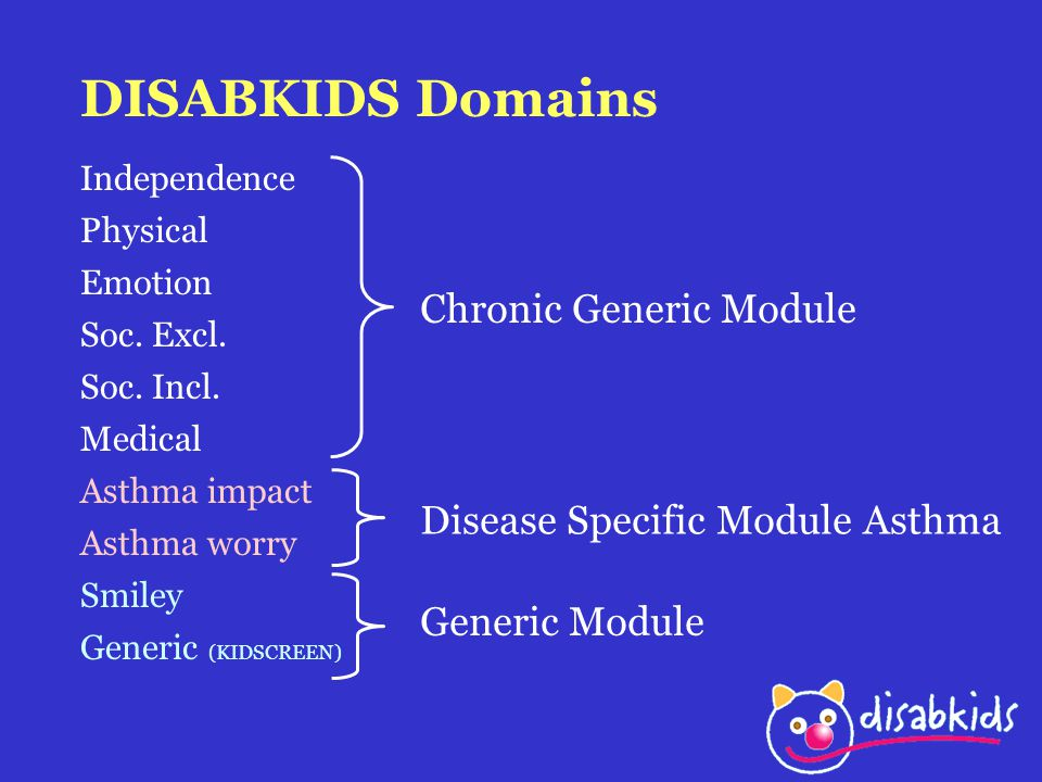 DISABKIDS Domains Chronic Generic Module