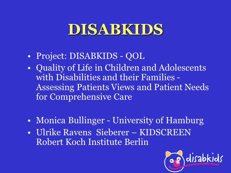 DISABKIDS Project: DISABKIDS - QOL