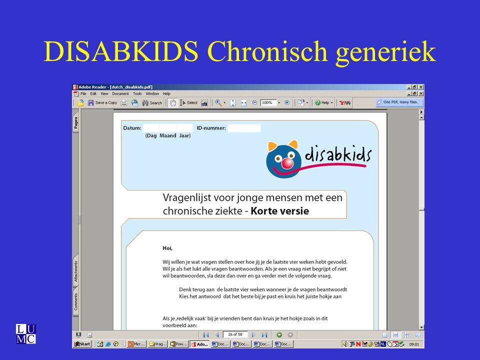 DISABKIDS Chronisch generiek