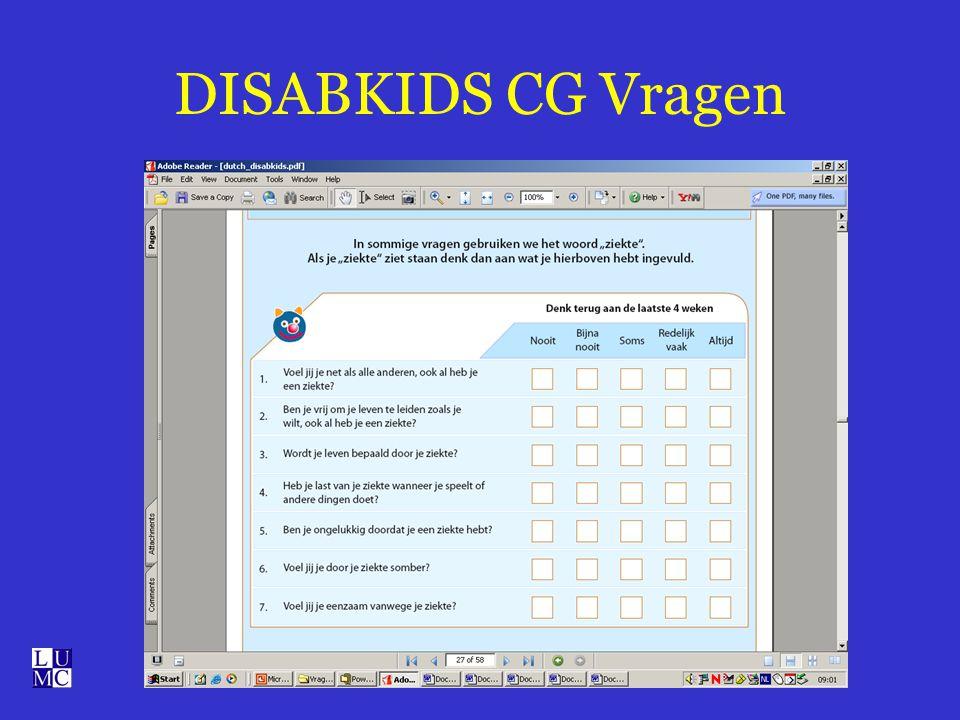 DISABKIDS CG Vragen
