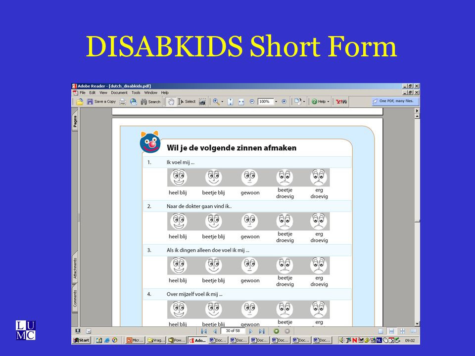 DISABKIDS Short Form