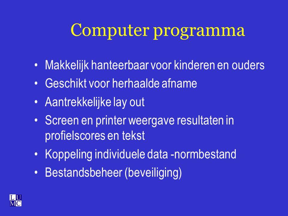Computer programma Makkelijk hanteerbaar voor kinderen en ouders