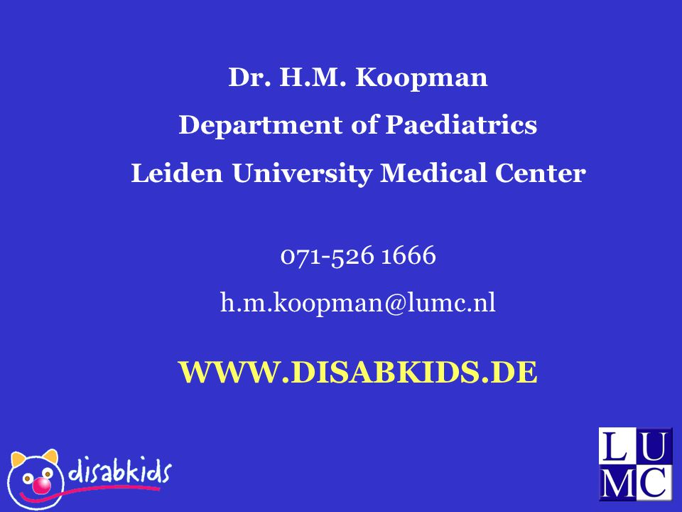 Department of Paediatrics Leiden University Medical Center