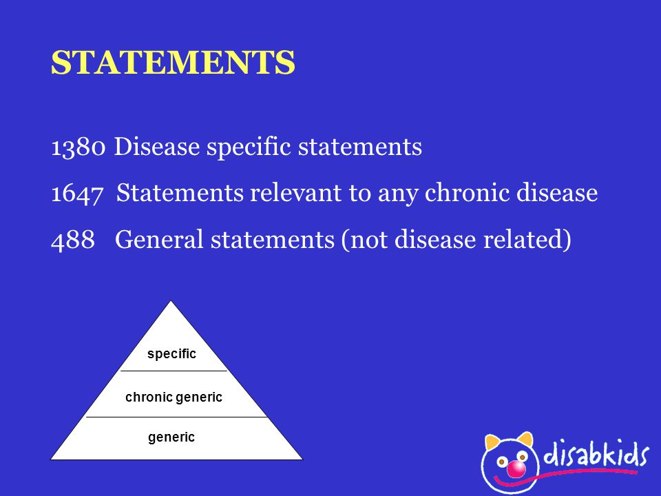 STATEMENTS 1380 Disease specific statements