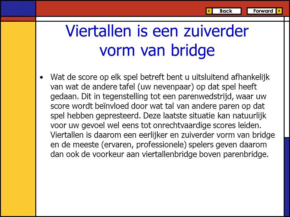 Viertallen is een zuiverder vorm van bridge