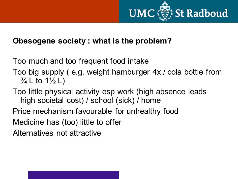 Obesogene society : what is the problem