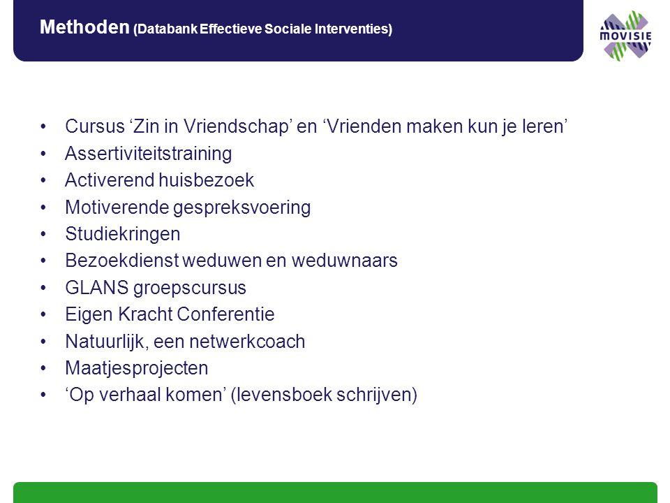 Methoden (Databank Effectieve Sociale Interventies)