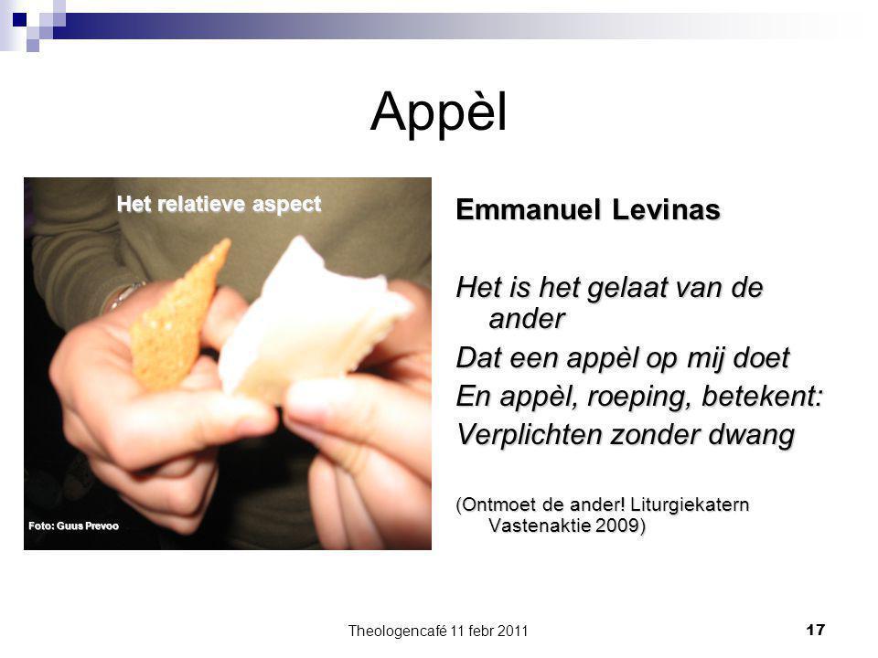 Appèl Emmanuel Levinas Het is het gelaat van de ander