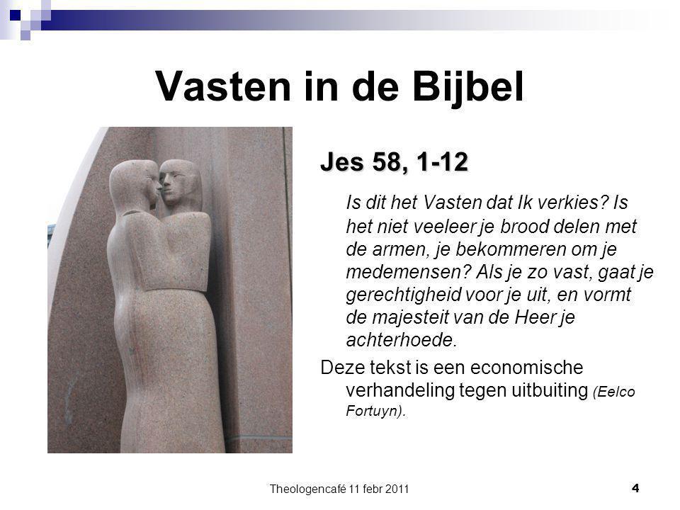 Vasten in de Bijbel Jes 58, 1-12