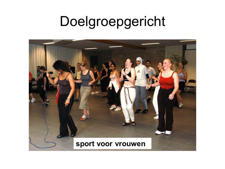 Doelgroepgericht Sport voor vrouwen sport voor vrouwen