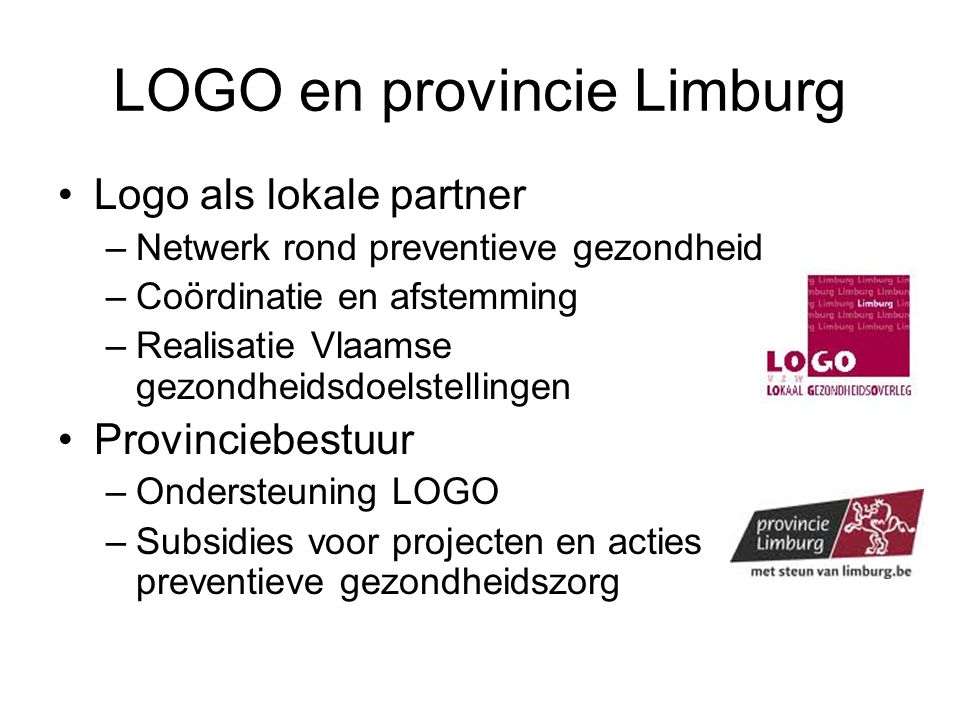 LOGO en provincie Limburg