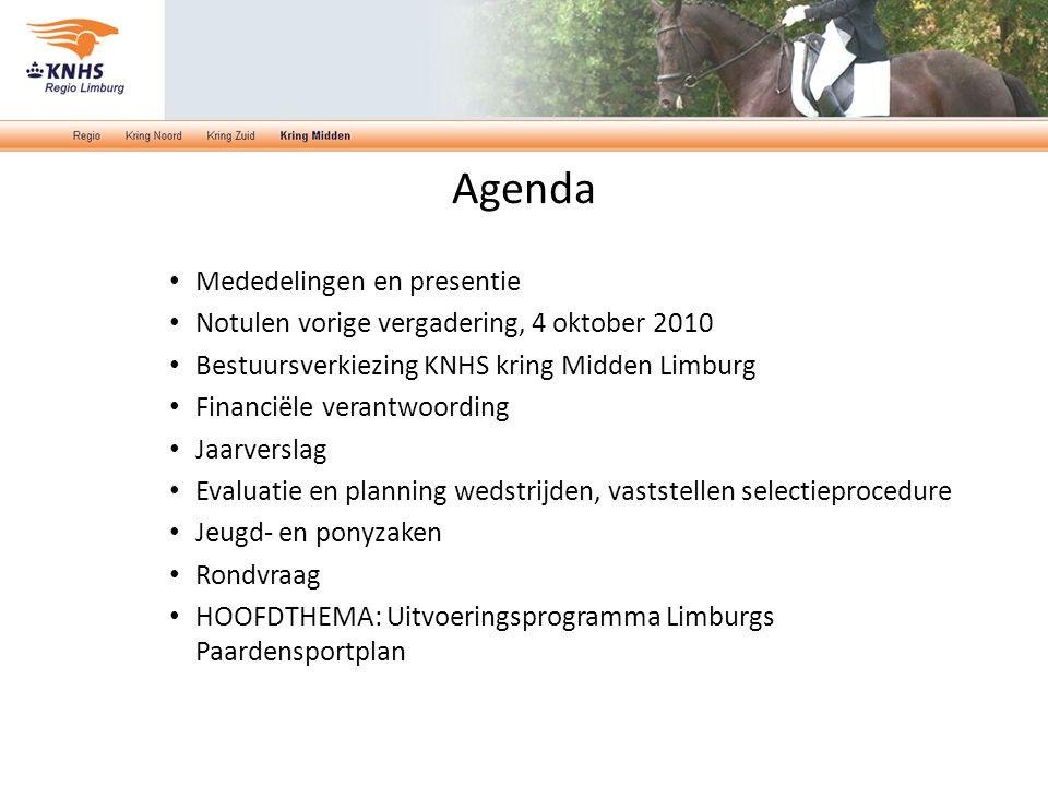 Agenda Mededelingen en presentie