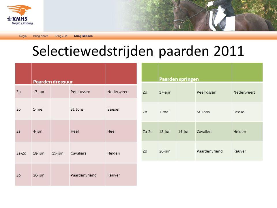 Selectiewedstrijden paarden 2011