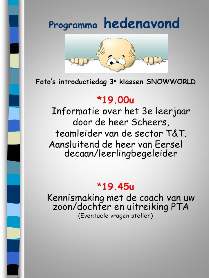 Foto's introductiedag 3e klassen SNOWWORLD