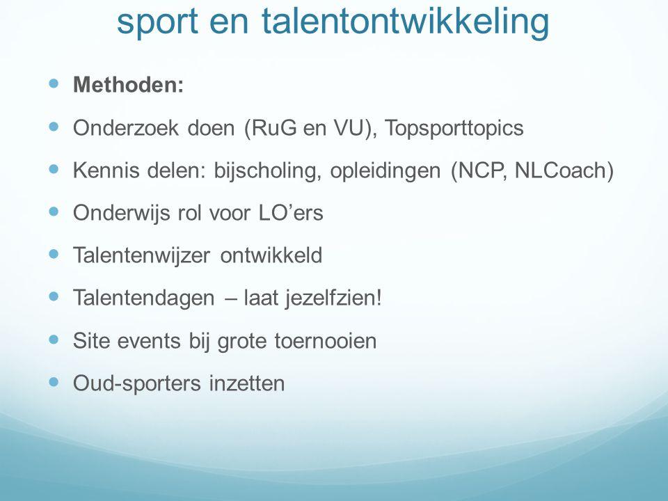 sport en talentontwikkeling