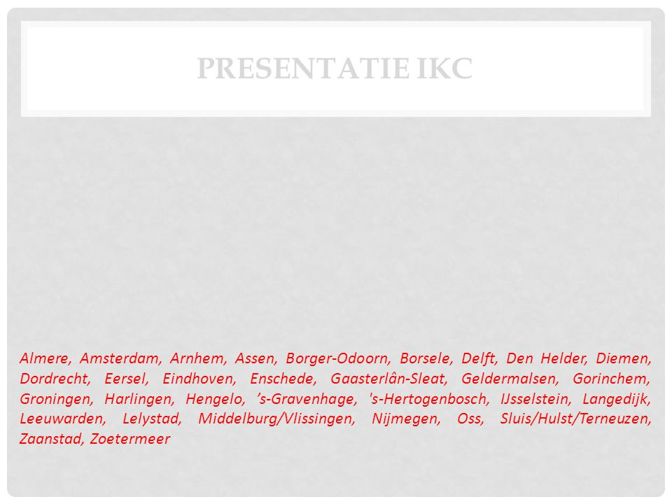 Presentatie IKC
