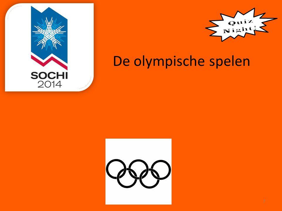 De olympische spelen Quiz Night !
