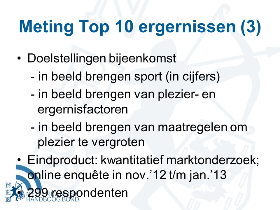 Meting Top 10 ergernissen (3)