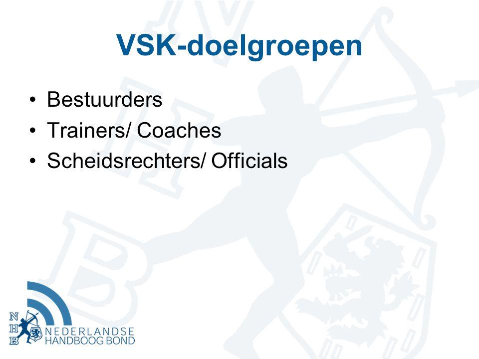 VSK-doelgroepen Bestuurders Trainers/ Coaches