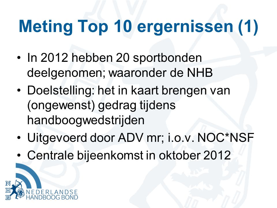 Meting Top 10 ergernissen (1)