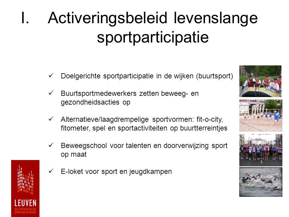 Activeringsbeleid levenslange sportparticipatie