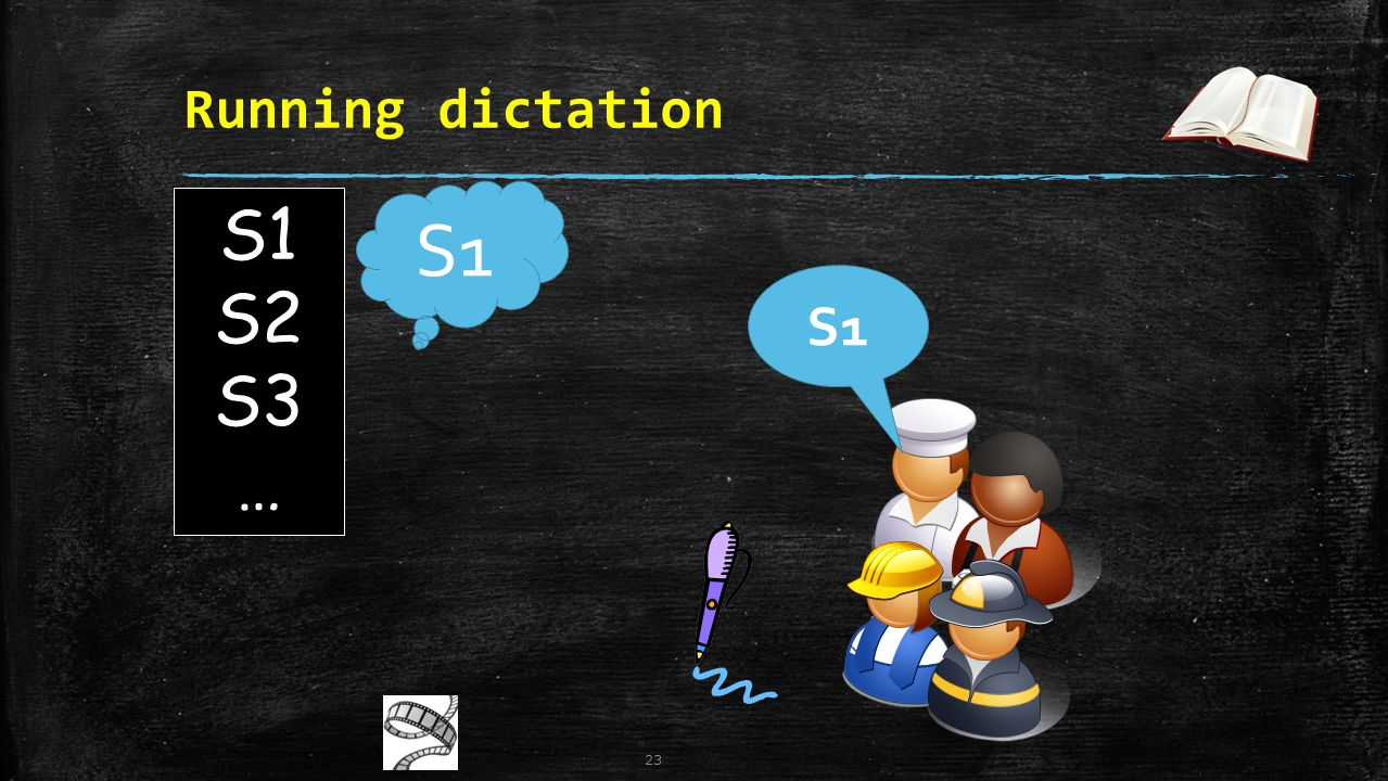 Running dictation S1 S1 S2 S3 … S1