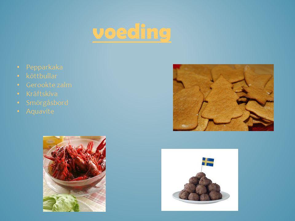 voeding Pepparkaka köttbullar Gerookte zalm Kräftskiva Smörgåsbord