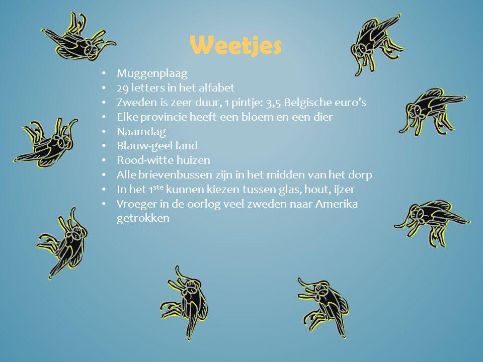 Weetjes Muggenplaag 29 letters in het alfabet