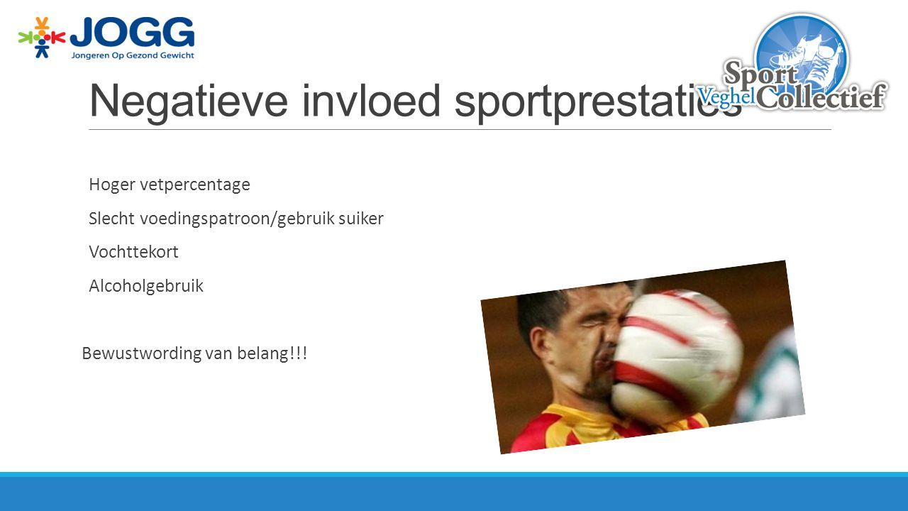 Negatieve invloed sportprestaties