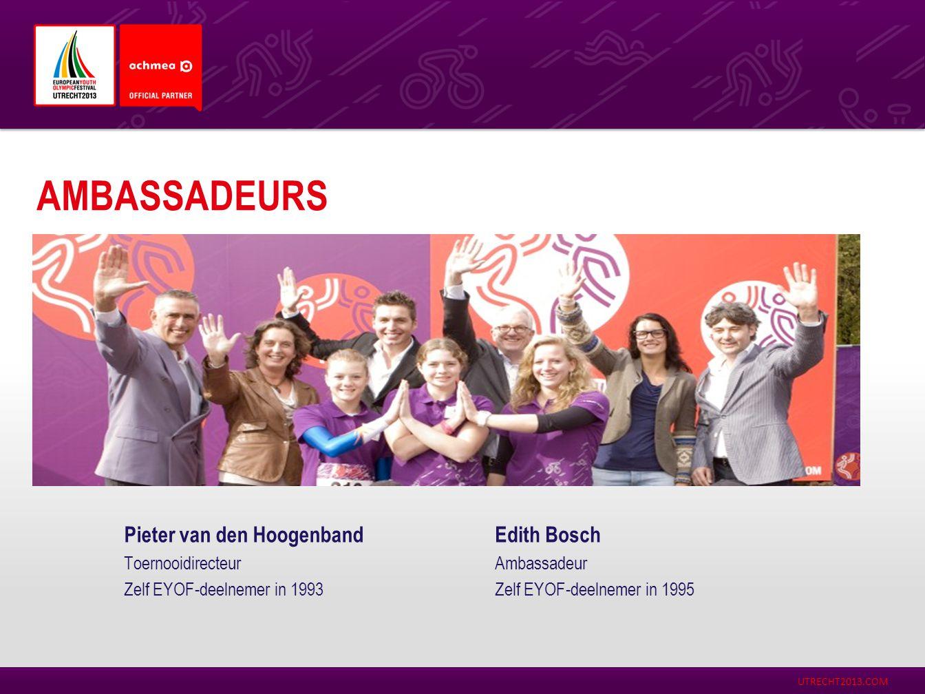 Ambassadeurs Pieter van den Hoogenband Edith Bosch Toernooidirecteur
