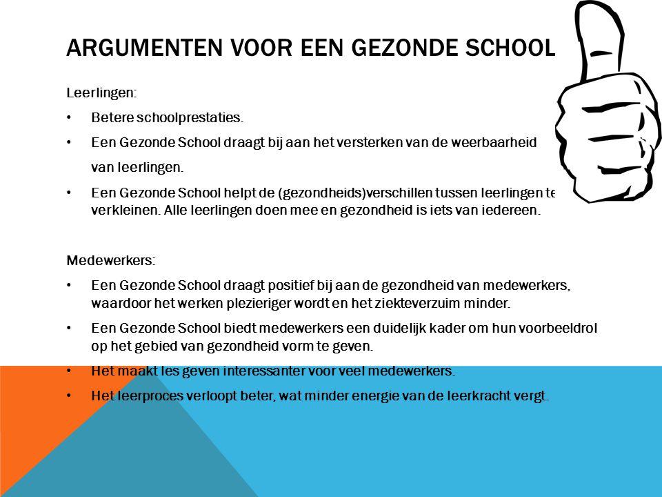 Argumenten voor een gezonde school