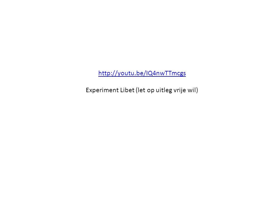 Experiment Libet (let op uitleg vrije wil)