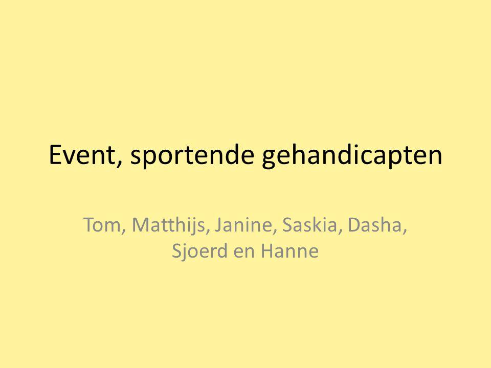 Event, sportende gehandicapten