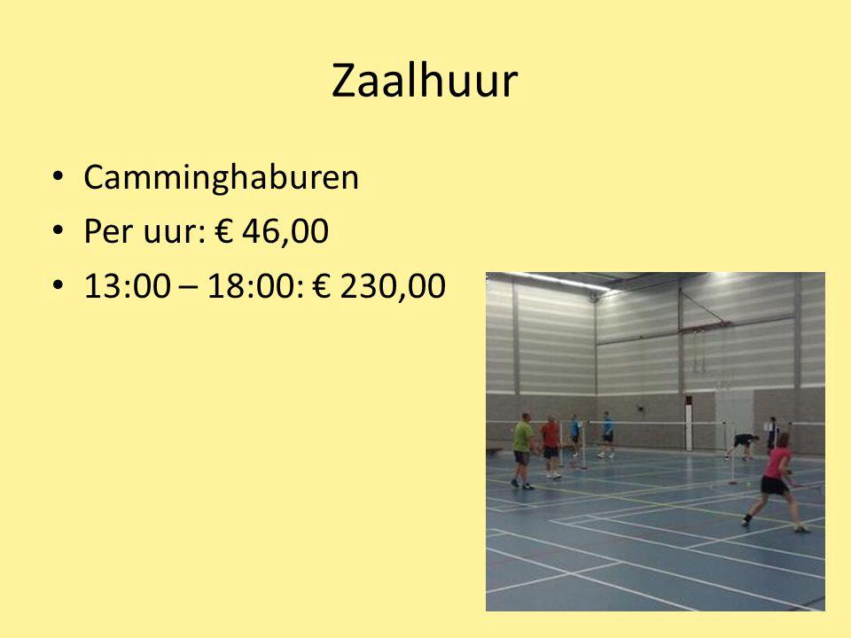 Zaalhuur Camminghaburen Per uur: € 46,00 13:00 – 18:00: € 230,00