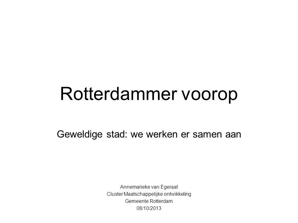 Rotterdammer voorop Geweldige stad: we werken er samen aan