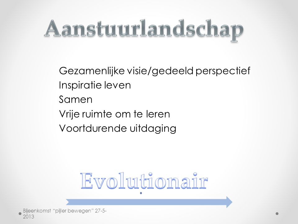 Aanstuurlandschap Evolutionair