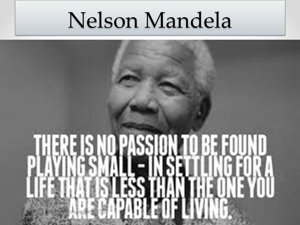 Nelson Mandela Bijeenkomst pijler bewegen 27-5-2013