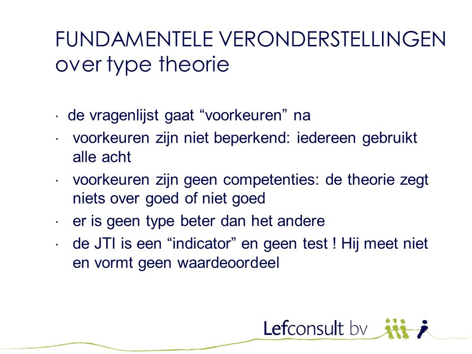 FUNDAMENTELE VERONDERSTELLINGEN over type theorie