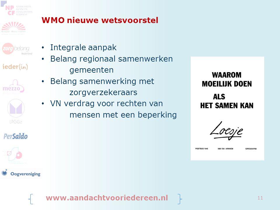 WMO nieuwe wetsvoorstel
