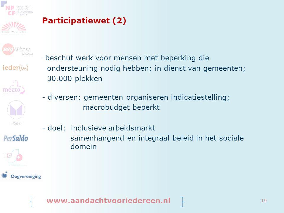 Participatiewet (2) beschut werk voor mensen met beperking die