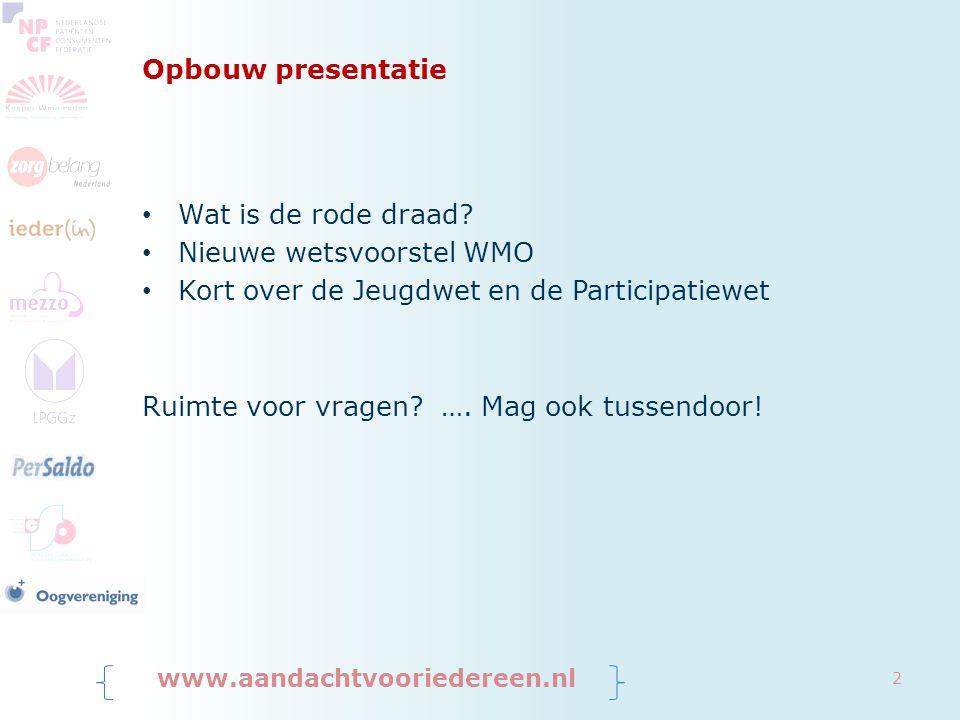 Nieuwe wetsvoorstel WMO Kort over de Jeugdwet en de Participatiewet