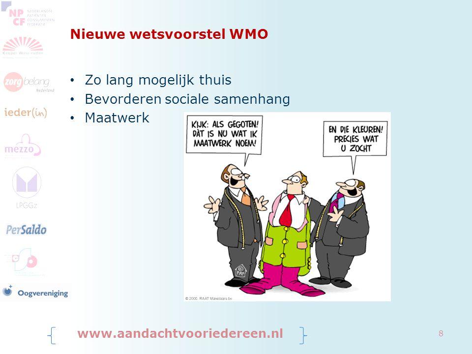 Nieuwe wetsvoorstel WMO