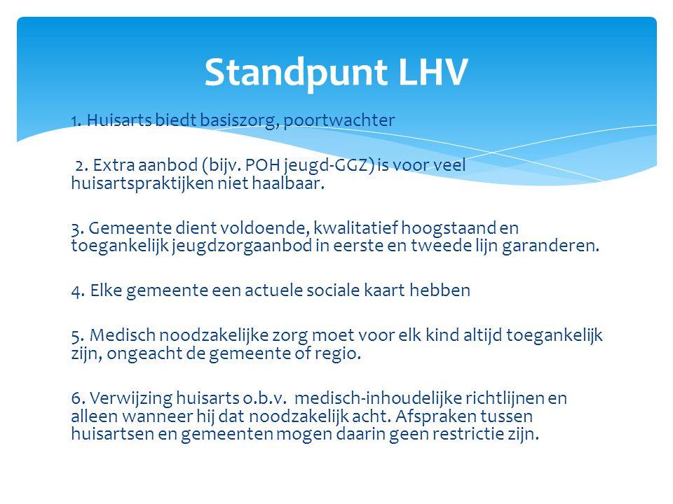 Standpunt LHV 1. Huisarts biedt basiszorg, poortwachter
