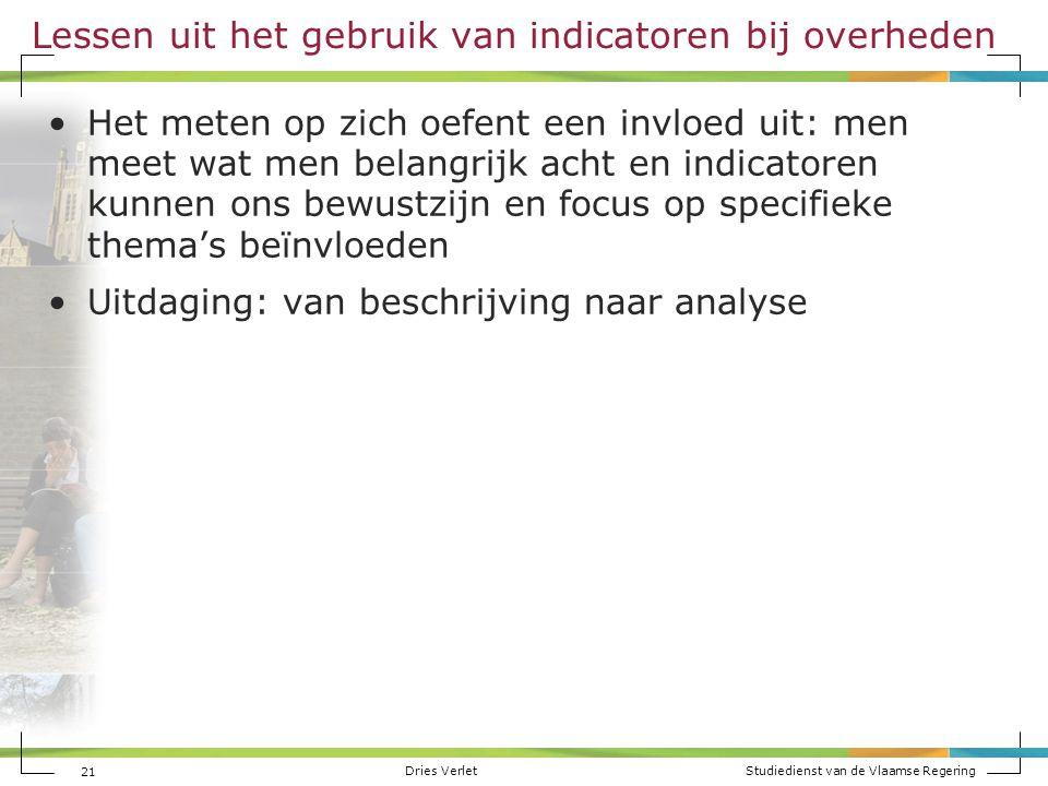 Lessen uit het gebruik van indicatoren bij overheden