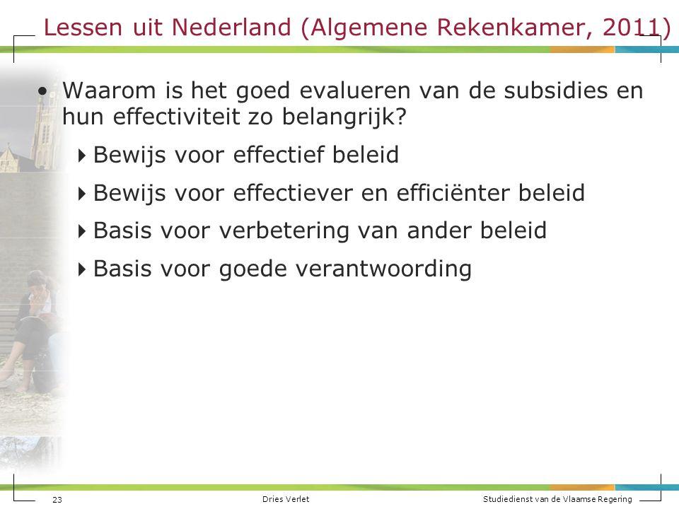 Lessen uit Nederland (Algemene Rekenkamer, 2011)