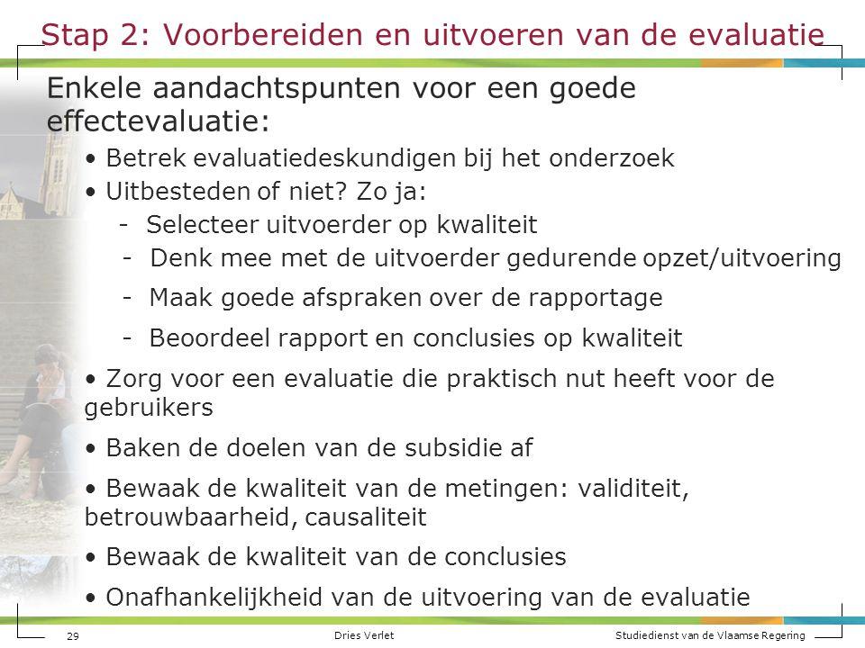Stap 2: Voorbereiden en uitvoeren van de evaluatie