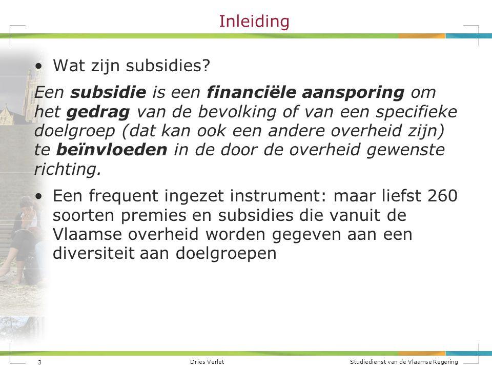 Inleiding Wat zijn subsidies