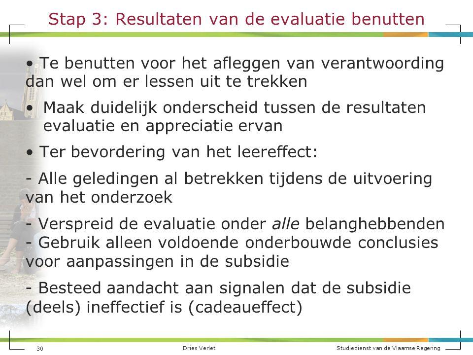 Stap 3: Resultaten van de evaluatie benutten