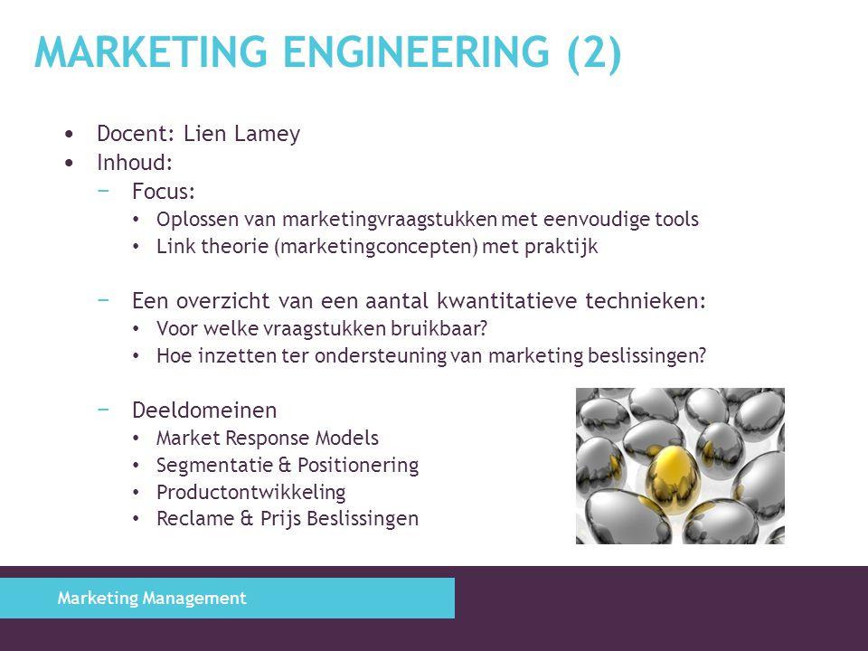 Marketing Engineering (2)