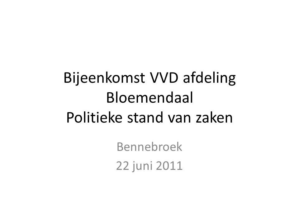 Bijeenkomst VVD afdeling Bloemendaal Politieke stand van zaken